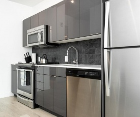 Modern Bedroom Space with King Bed In Downtown Winnipeg